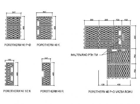 Porotherm detail soklu