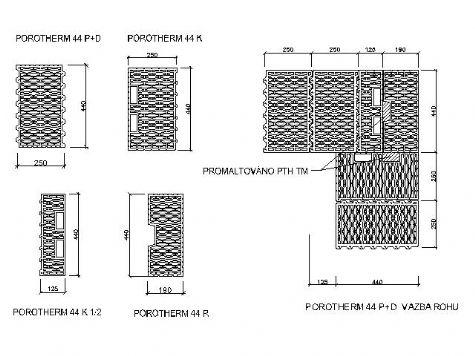 Porotherm 44 p+d